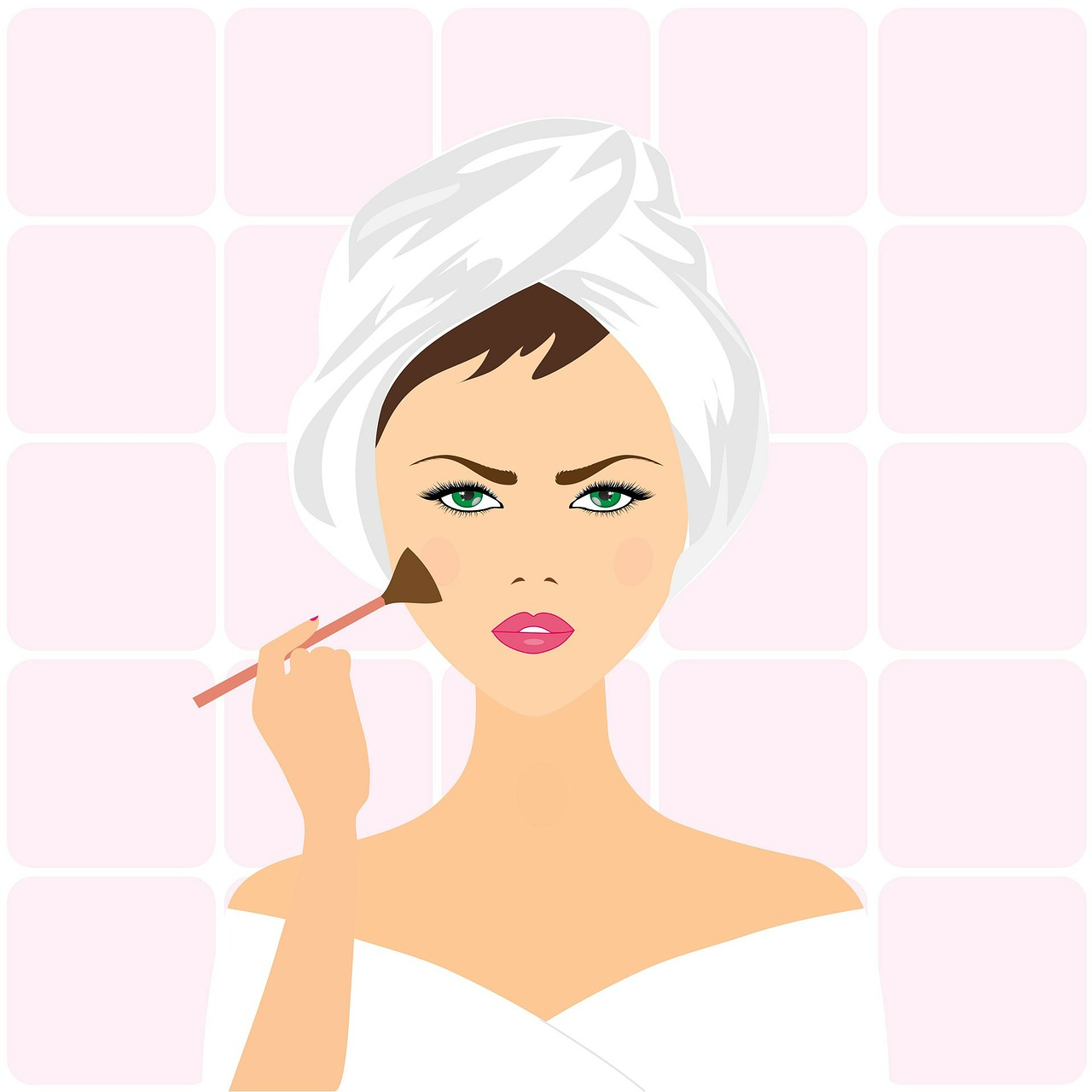 Penser à bien étaler votre fond de teint lorsque vous vous maquillez.